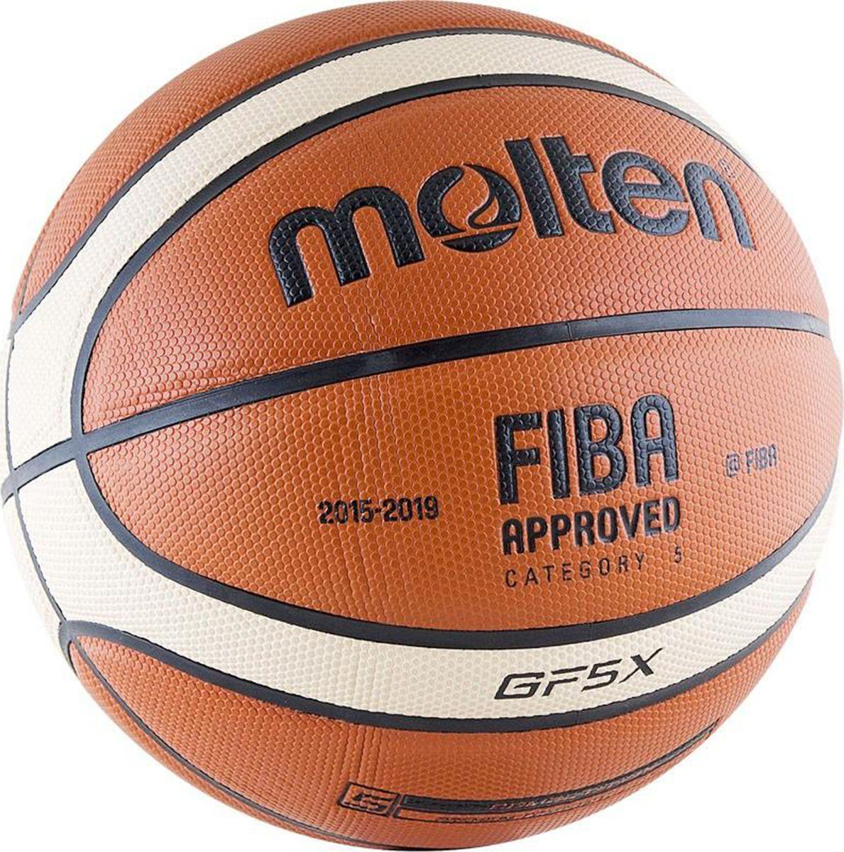 Мяч баскетбольный Molten. Размер 5. BGF5XBGF5XОфициальный мяч FIBA. Предназначен для игры в зале.Революционный материал поверхностиНатуральная кожа премиум класса.Отличная стабильностьСпециальная конструкция и вспененная система, а также параллельные «пупырышки» обеспечивают ощущение однородности и стабильность в игровых ситуациях.Сертификат FIBAОдобрен FIBA для проведения соревнований высшего уровня.