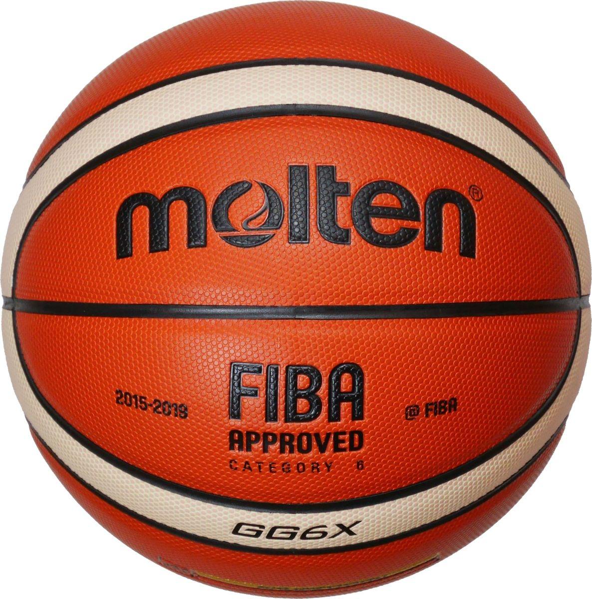 Мяч баскетбольный Molten. Размер 6. BGG6XУТ-00009326Официальный мяч FIBA. Предназначен для игры в зале. Революционный материал поверхности: натуральная кожа премиум класса. Отличная стабильность: специальная конструкция и вспененная система, а также параллельные пупырышки обеспечивают ощущение однородности и стабильность в игровых ситуациях. Сертификат FIBA: одобрен FIBA для проведения соревнований высшего уровня.
