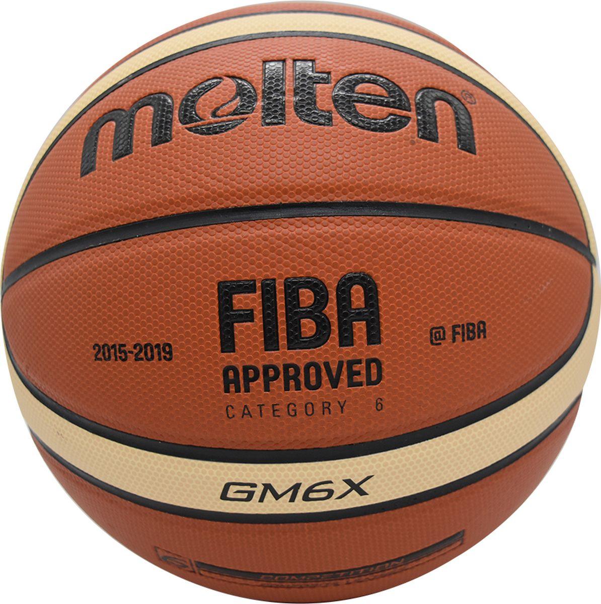 Мяч баскетбольный Molten. Размер 6. BGM6XBGM6XБаскетбольный мяч Molten.Контроль мяча: особая фактура покрышки и максимально плоские каналы обеспечивают надежный захват мяча и точные броски.Одобрено FIBA: мяч одобрен ФИБА и подходит для подготовки к соревнованиям профессионального уровня.Прочность: модель из полиуретановой синтетической кожи отлично подходит как для игры в зале, так и на улице.