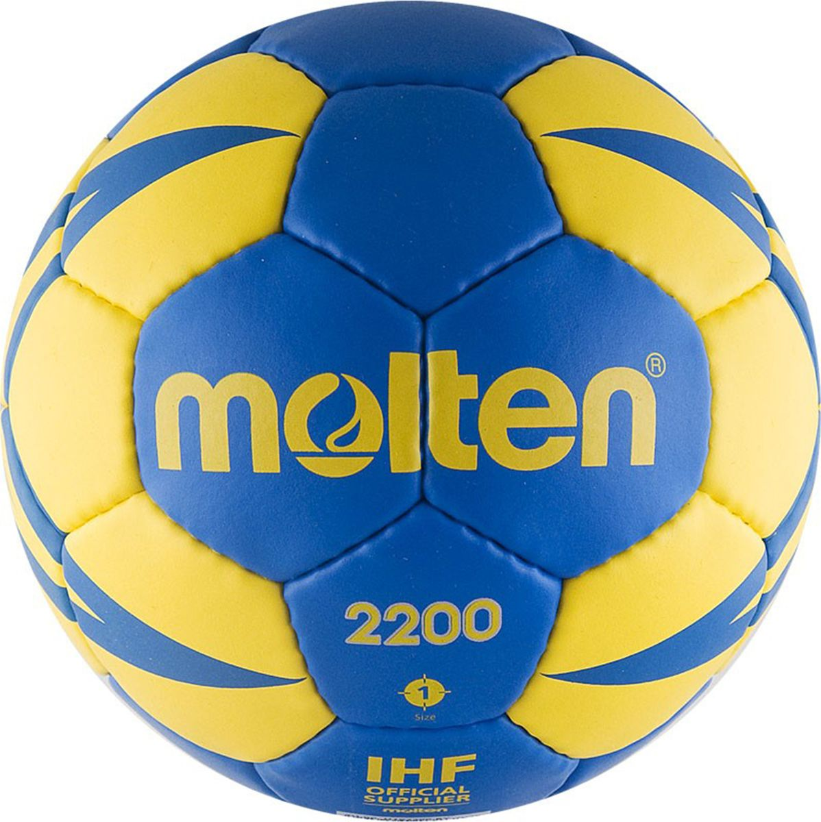 Мяч гандбольный Molten. Размер 1. H1X2200-BYH1X2200-BYТренировочный гандбольный мяч MOLTEN 2200. Мягкая синтетическая кожа (полиуретан), 3 подкладочных слоя из синтетической ткани, слой пены для мягкости, латексная камера, ручная сшивка, 32 панели.
