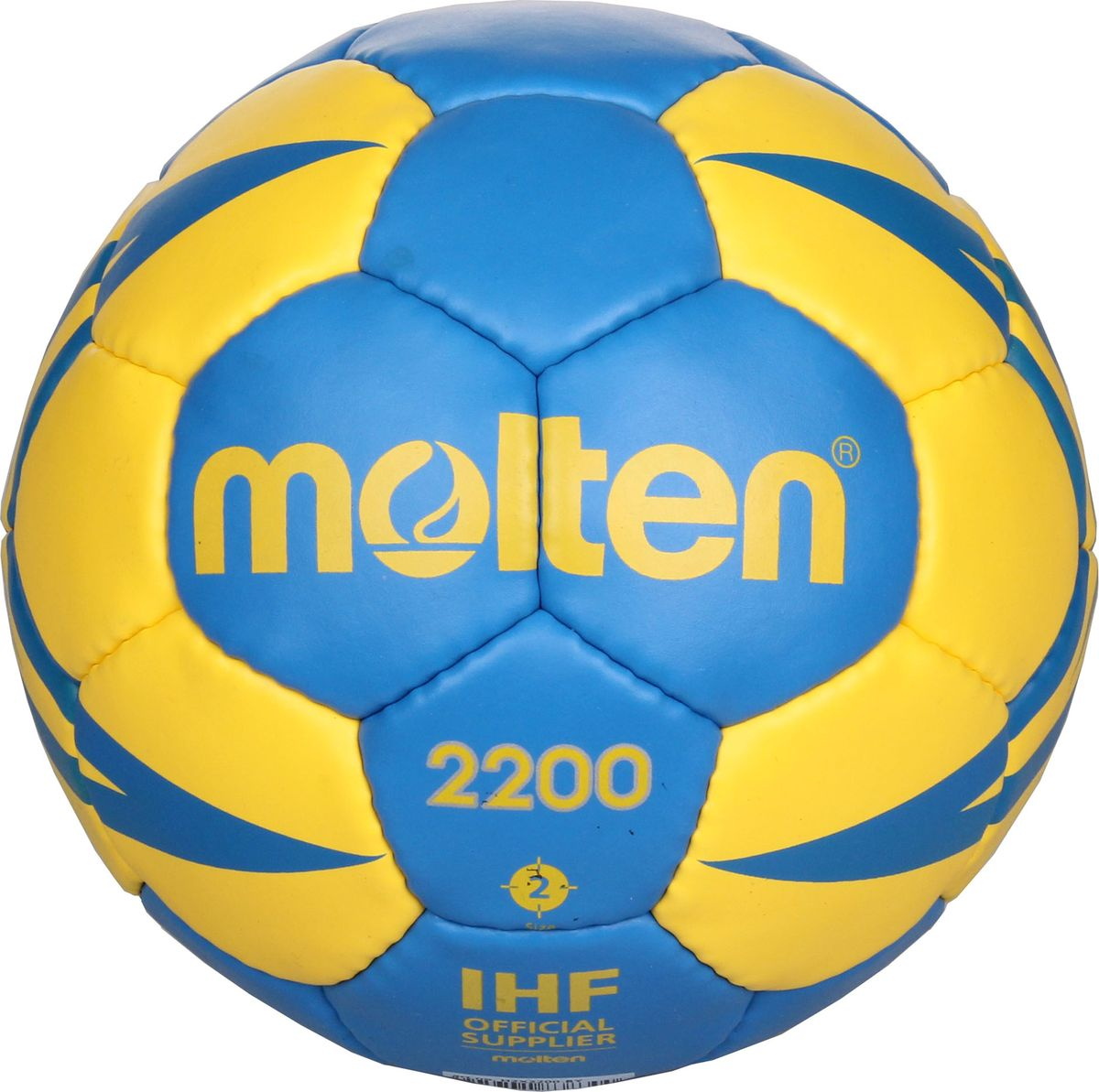 Мяч гандбольный Molten. Размер 2. H2X2200-BYH2X2200-BYТренировочный гандбольный мяч Molten 2200. Мягкая синтетическая кожа (полиуретан), 3 подкладочных слоя из синтетической ткани, слой пены для мягкости, латексная камера, ручная сшивка, 32 панели.