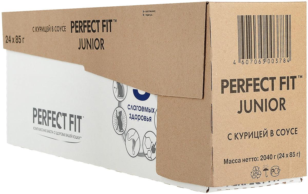 Консервы Perfect Fit Junior для котят до 12 месяцев, рагу с курицей, 85 г х 24 шт41409Консервы Perfect Fit Junior - высококачественный, полноценный сухой корм для котят, разработан в соответствии с потребностями развивающегося организма. Особенности консервов Perfect Fit:- содержит оптимальное соотношение кальция и фосфора, высокий уровень питательных веществ и энергии, необходимые для здорового роста и развития;- содержит витамин Е и цинк, помогающие поддержанию иммунной системы;- не содержит сои, консервантов, ароматизаторов, искусственных красителей, усилителей вкуса. В упаковке 24 пауча по 85 г.Товар сертифицирован.Уважаемые клиенты! Обращаем ваше внимание на возможные изменения в дизайне упаковки. Качественные характеристики товара остаются неизменными. Поставка осуществляется в зависимости от наличия на складе.