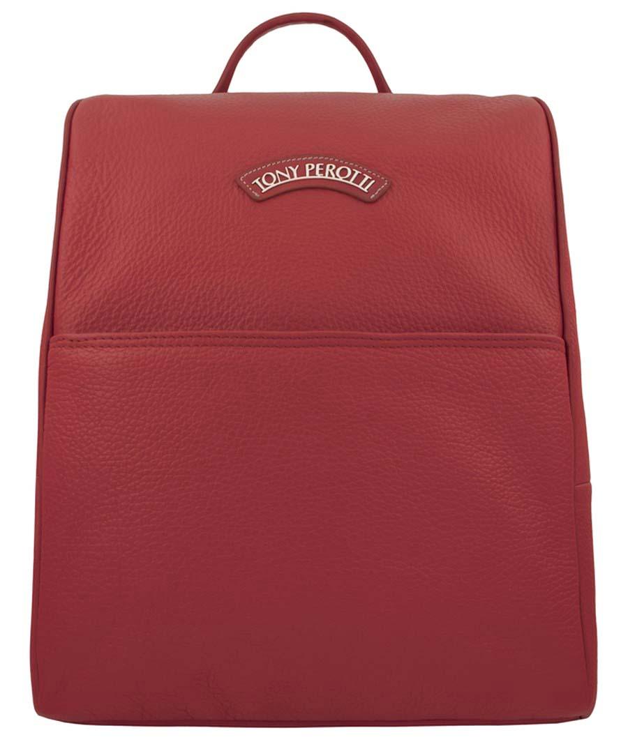 Стильный рюкзак Tony Perotti выполнен из натуральной кожи. Изделие оснащено ручкой для подвешивания и удобными лямками. На лицевой стороне небольшой внутренний карман на молнии для мелочей. Рюкзак закрывается с помощью молнии. Внутри расположены несколько карманов для документов или мелочей. Такой рюкзак станет превосходным дополнением образа на прогулке или в клубе.