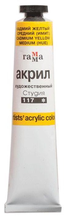 Гамма Краска акриловая цвет 117 кадмий желтый средний 46 мл 3 шт190567В производстве красок ГАММА используются современные высококачественные тонкотертые пигменты и акриловые композиции, изготовленные по мировым стандартам. Акриловая дисперсия красок гарантирует хорошую адгезию краски и абсолютную водонепроницаемость.