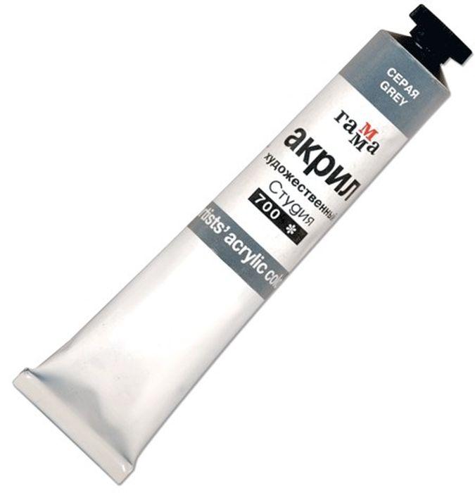 Гамма Краска акриловая цвет 700 серый 46 млVAMP-45Акриловая краска Гамма предназначена для живописи и декоративных работ. Легко наносится практически на любую поверхность. Яркий и насыщенный цвет. Быстрое высыхание без изменения цвета. Отличная укрывистость и светостойкость.В производстве красок Гамма используются современные высококачественные тонкотертые пигменты и акриловые композиции, изготовленные по мировым стандартам. Акриловая дисперсия красок гарантирует хорошую адгезию краски и абсолютную водонепроницаемость.