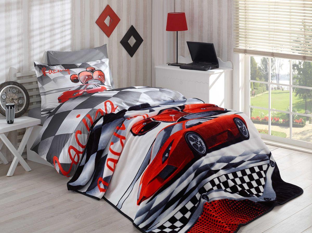 Комплект белья детский Hobby Home Collection X-Racing, с покрывалом, 1,5-спальный, наволочки 50x70, 70x70, цвет: красный1501001563Детский комплект белья с покрывалом Hobby Home Collection выполнен из поплина. Поплиновое постельное белье имеет ряд несомненныхдостоинств: оно хорошо сохраняет форму и цвет, имеет приятную на ощупь поверхность, хорошо удерживает тепло и впитывает влагу, почти немнется. Кроме этого, комплекты постельного белья из поплина не требуют специального ухода: их можно стирать в стиральной машине притемпературе до 60°С и гладить при температуре до 110°С. Ткань поплин гипоаллергенна, отвечает всем европейским экологическим стандартам. Набор постельного белья с покрывалом велсофт, готовый вариант убранства для постели.