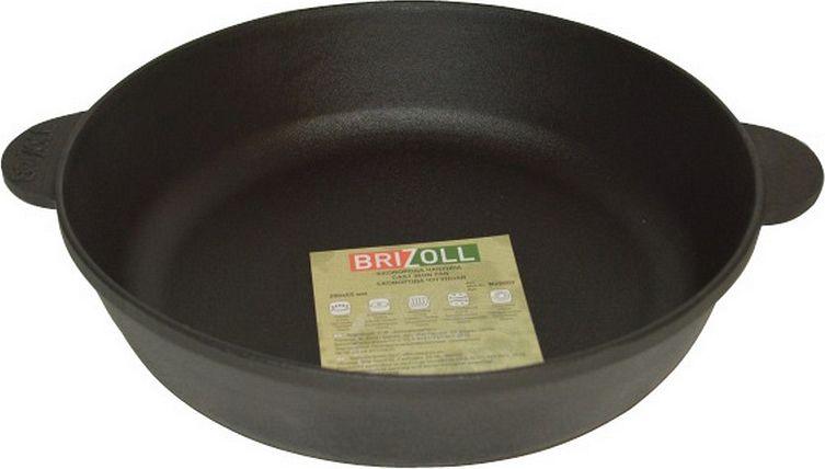"""Жаровня Бризолль """"Монолит"""" изготовлена из чугуна. Чугун - это долговечный, натуральный, экологически чистый, прочный и устойчивый к деформации материала. Чугун не боится перекаливания при нагреве, обладает высокой теплоемкостью. В такой посуде можно жарить, тушить, запекать, варить разные блюда.  Подходит для всех типов плит, включая индукционные. Диаметр: 28 см. Высота стенки: 6 см.   Уважаемые клиенты! Для сохранения свойств посуды из чугуна и предотвращения появления ржавчины чугунную посуду мойте только вручную, горячей или теплой водой, мягкой губкой или щёткой (не металлической) и обязательно вытирайте насухо. Для хранения смазывайте внутреннюю поверхность посуды растительным маслом, а перед следующим применением хорошо накалите посуду."""