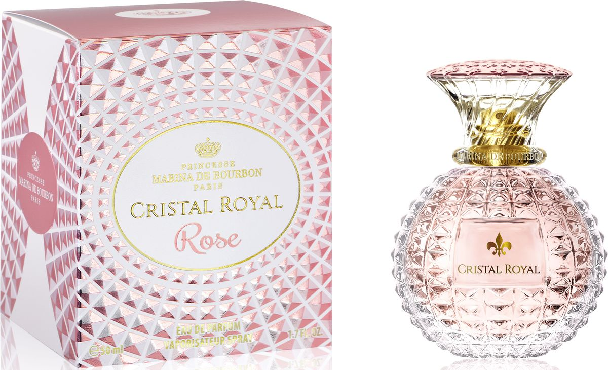 Princesse Marina De Bourbon Paris Cristal Royal Rose Парфюмерная вода женская, 50 мл marina de bourbon mon bouquet