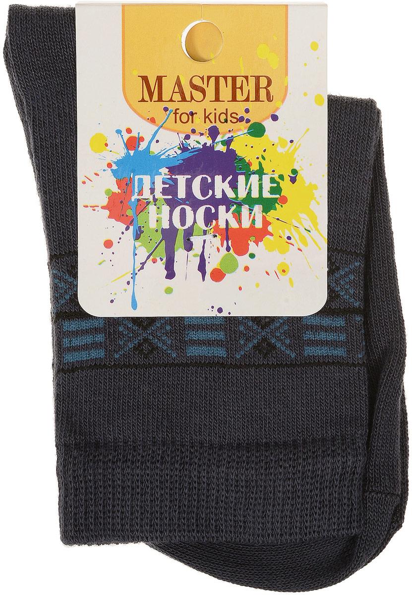 Носки детские Master Socks, цвет: темно-серый. 52007. Размер 2252007Мягкие детские носки Master Socks изготовлены из эластичного хлопка, эластана и полиамида. Ткань очень приятная на ощупь, хорошо тянется, не деформируясь. Эластичная резинка мягко облегает ножку ребенка, обеспечивая удобство и комфорт. Модель оформлена орнаментом.Такие носочки станут отличным дополнением к детскому гардеробу!Уважаемые клиенты!Размер, доступный для заказа, является длиной стопы.