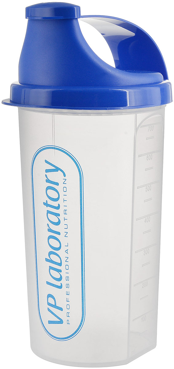 Шейкер Vplab Transparent, цвет: синий, 700 мл vp laboratory vp laboratory fitactive l carnitine fitness drink 500гр page 2