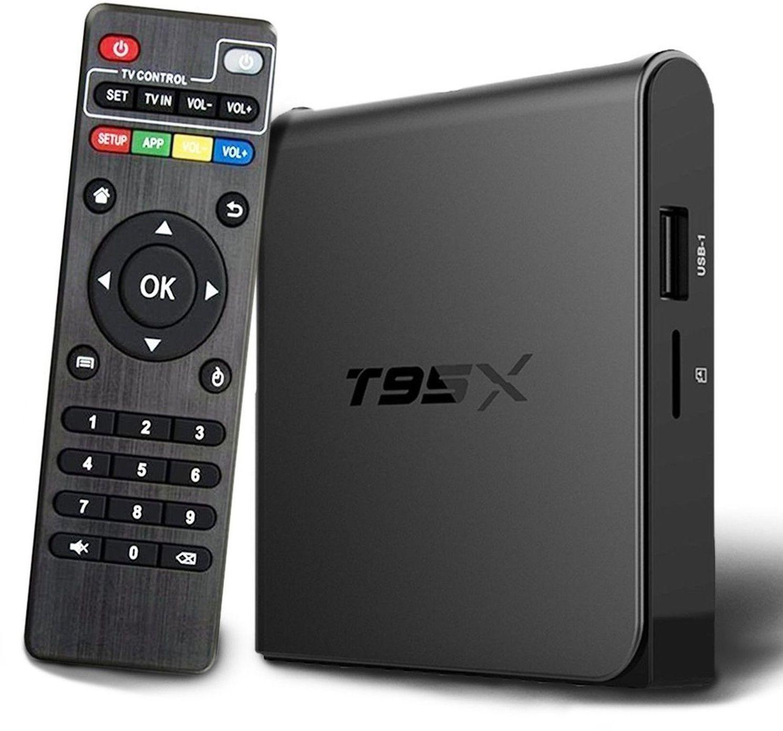 Invin T95X, Black медиаплеер4600000000152Подключив Андроид-приставку Смарт ТВ -Invin T95X к своему телевизору, вы получите полноценный планшетный компьютер. С её помощью можно заходить в интернет, используя вместо монитора телевизор, работать с текстовыми и графическими документами, смотреть видео и играть игры онлайн, общаться в соцсетях, использовать абсолютно все приложения, разработанные для устройств с ОС Android и так далее. На приставке смарт ТВ Invin T95X заведомо установлены интернет-браузер и приложения, позволяющие вам активно проводить время в сети, просматривать видео и телеканалы онлайн.Характеристики:· ОС- Android 6.0.· Процессор Amlogic S905X Quad-core 64-bit ARM Cortex-A53 up to 2GHz GPU Penta-core ARM Mali-450.· Системная память - 1 Гб DDR3 до 1600 МГц.· Внутренная память - 8Гб + Micro SD слот для карт памяти до 64 Гб.· Видео выход - HDMI 1.4b до 4K2K (2160p = 3840 Ч 2160), А.В.· USB - 2x USB Host 2.0 портов, поддержка внешних USB дисков.· Видео выход - AV (выход для старых телевизоров).· Выход - для оптоволоконного кабеля.· Мышь/ Клавиатура- Поддержка стандартных манипуляторов мышь и клавиатур через USB порты. Характеристики Сети:· LAN Сеть- Ethernet:10/100M, стандарт RJ-45.· WIFI Беспроводная сеть - двухдиапазонный Wi-Fi 802.11 A / B / G / N. Основные характеристики:· 3D Аппаратное ускорение 3D графики.· Поддержка форматов- HD MPEG1/2/4, H.264, HD AVC/VC-1, RM/RMVB, Xvid/DivX, RealVideo.· Поддержка формата медиафайлов- Avi/Rm/Rmvb/Ts/Vob/Mkv/Mov/ISO/wmv/asf/flv/dat/mpg/mpeg.· Поддержка аудиофайлов- MP3/WMA/AAC/WAV/OGG/AC3/DDP/TrueHD/DTS/DTS/HD/FLAC/APE.· Поддержка форматов фотографий- HD JPEG/BMP/GIF/PNG/TIFF.· Поддержка карт памяти SD/SDHC/MMC cards.· Поддержка файловых систем FAT16/FAT32/NTFS.· Поддержка субтитров SRT/SMI/SUB/SSA/IDX+USB.· HD видео выход SD/HD до 1920?1080.· 3G Поддержка некоторых 3G модемов.· DOLBY TrueHD и DTS HD DOLBY TrueHD и DTS HD Bypass через HDMI. Программное обеспечение:· Сеть Skype, Picasa, Youtube, Flicker, Facebook,