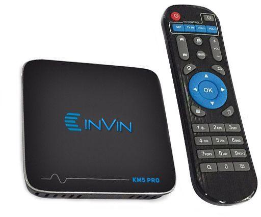 Invin KM5pro, Black медиаплеер4631139715068Подключив Андроид-приставку Смарт ТВ -Invin KM5 Pro к своему телевизору, вы получите полноценный планшетный компьютер. С её помощью можно заходить в интернет, используя вместо монитора телевизор, работать с текстовыми и графическими документами, смотреть видео и играть игры онлайн, общаться в соцсетях, использовать абсолютно все приложения, разработанные для устройств с ОС Android и так далее. На приставке смарт ТВ Invin KM5 Pro заведомо установлены интернет-браузер и приложения, позволяющие вам активно проводить время в сети, просматривать видео и телеканалы онлайн. Характеристики:· ОС- Android 7.1· Процессор Amlogic S905X 64 bit Quad-core ARM Cortex-A53 CPU up to 2GHz (DVFS) (4-x ядерный)· Графический процессор GPU: ARM Mali-450 GPU up to 750MHz (DVFS) (8-ми ядерный)· Системная память - 2 Гб DDR3 до 1600 МГц· Внутренная память - 16 Гб + Micro SD слот для карт памяти до 32 Гб· Видео выход - HDMI 2.0b до 4K2K (2160p = 3840 Ч 2160), А.В.· USB - 2x USB Host 2.0 портов, поддержка внешних USB дисков· Видео выход - AV (выход для старых телевизоров)· Мышь/ Клавиатура- Поддержка стандартных манипуляторов мышь и клавиатур через USB порты. Характеристики Сети:· LAN Сеть- Ethernet 100M/1000M· WIFI Беспроводная сеть - AP6330 2.4GHZ/5.8GHZ 802.11a/b/g/n. Основные характеристики:· 3D Аппаратное ускорение 3D графики· Поддержка форматов- HD MPEG1/2/4, H.264, HD AVC/VC-1, RM/RMVB, Xvid/DivX, RealVideo· Поддержка формата медиафайлов- Avi/Rm/Rmvb/Ts/Vob/Mkv/Mov/ISO/wmv/asf/flv/dat/mpg/mpeg· Поддержка аудиофайлов- MP3/WMA/AAC/WAV/OGG/AC3/DDP/TrueHD/DTS/DTS/HD/FLAC/APE· Поддержка форматов фотографий- HD JPEG/BMP/GIF/PNG/TIFF· Поддержка карт памяти SD/SDHC/MMC cards· Поддержка файловых систем FAT16/FAT32/NTFS· Поддержка субтитров SRT/SMI/SUB/SSA/IDX+USB· HD видео выход SD/HD до 1920?1080· 3G Поддержка некоторых 3G модемов· DOLBY TrueHD и DTS HD DOLBY TrueHD и DTS HD Bypass через HDMI. Программное обеспечение:· Сеть Skype, Picasa, Youtube, Flick