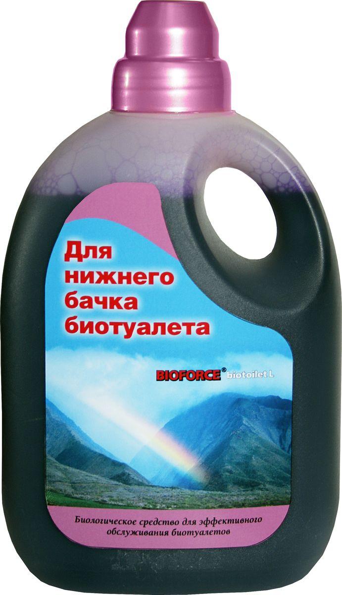 Средство для септиков и биотуалетов Bioforce BioToilet L, для нижнего бачка, 1 л жидкость для септиков и биотуалетов thetford cassete tank cleaner 1 л