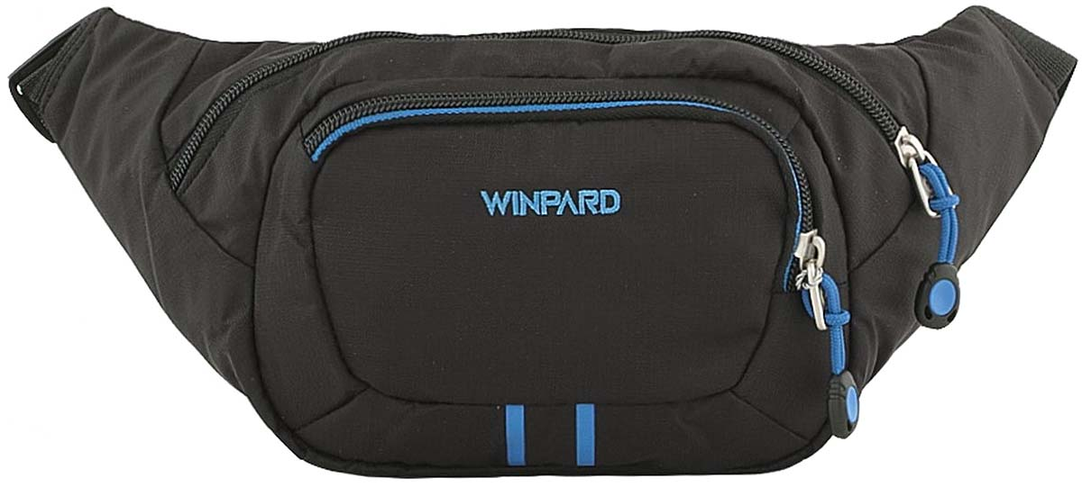 Сумка мужская Winpard, цвет: черно-синий. 6782/black-blue6782/black-blueСумка на пояс мужская Winpard выполнена из высококачественного полиэстера. Основной отдел на молнии с кармашком на молнии внутри, один карман на молнии спереди.