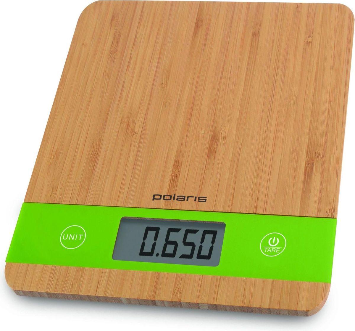 Polaris PKS 0545D Bamboo кухонные весы - Кухонные весы