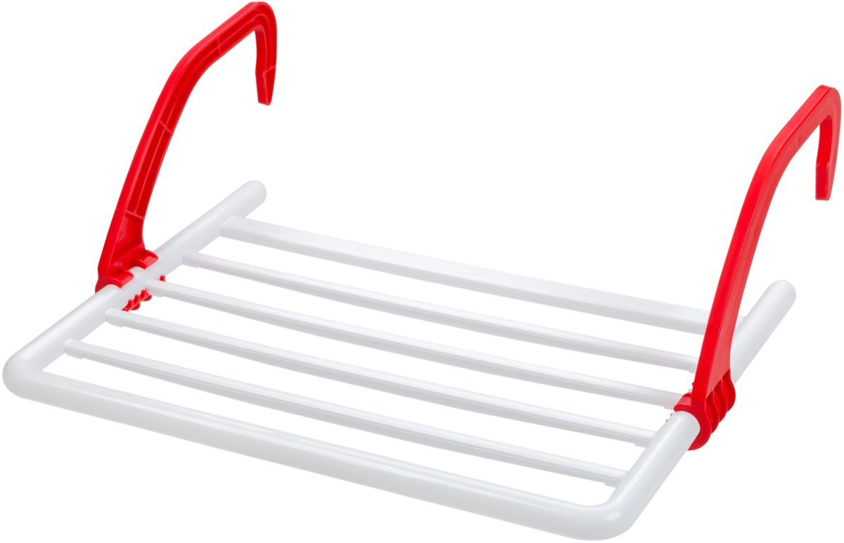 Сушилка Berossi, навесная, на батарею, цвет: розовый, 52 х 39 х 18 смАС 22746000Навесная сушилка для белья Berossi подходит для всех типов масляных радиаторов и батарей центрального отопления; может крепиться также на ванны и балконы. Суммарная рабочая поверхность составляет 3 метра. Удобная конструкция со складными пластиковыми ручками выдерживает вес до 5 кг белья и занимает минимум места в сложенном состоянии. Изделие непритязательно в уходе, устойчиво к воздействию влажности и температуры.