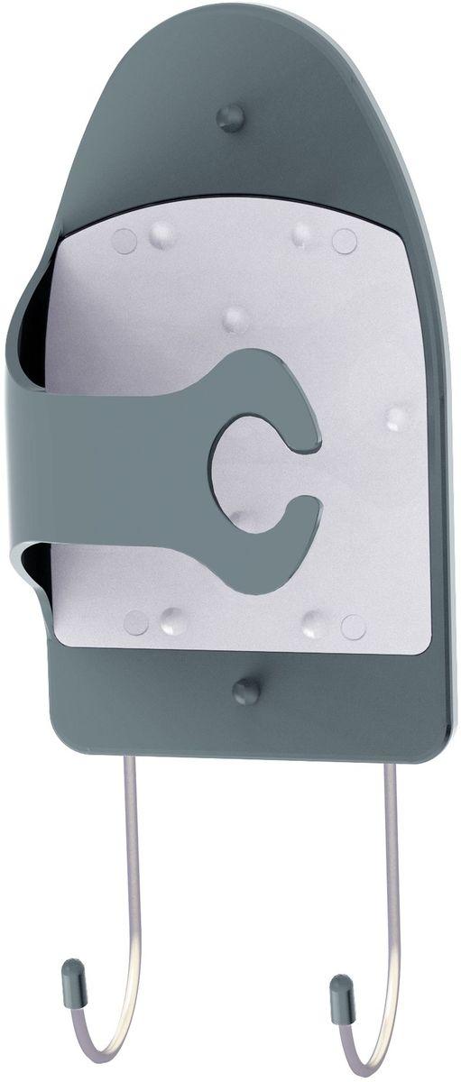 Держатель для утюга Berossi, цвет: серый, 31,2 х 14,5 х 10,7 смАС 24356010Держатель для утюга (мокрый асфальт, снежно-белый), 312х145х107 мм., термостойкая основа, крепеж в комплекте. В красочной коробке.