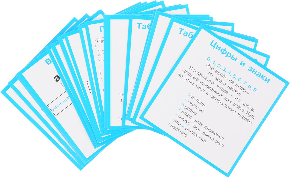 Правила по математике в таблицах. 1-4 классы (набор из 28 карточек)