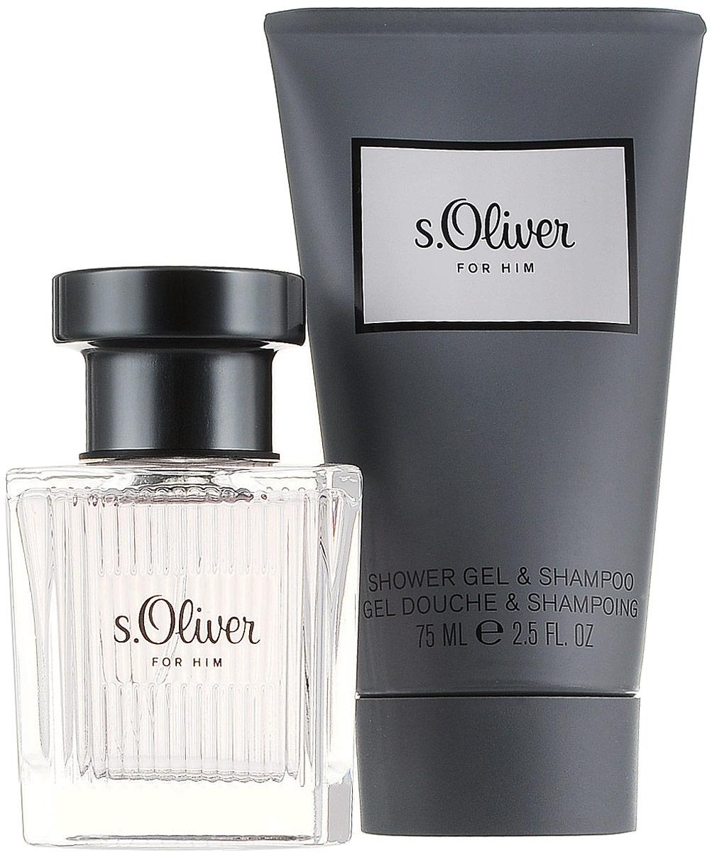 S.oliver For Him М Набор Туалетная вода, 30 мл + гель для душа, 75 мл