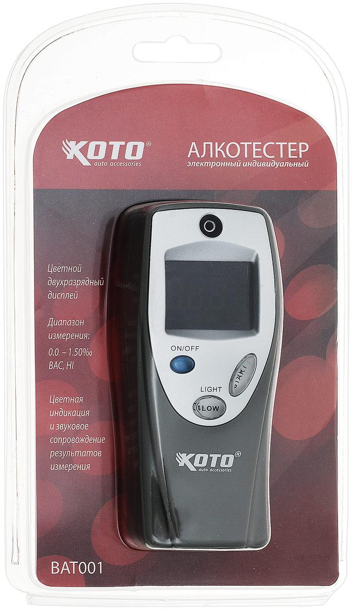 Алкотестер Koto, электронный. BAT001BAT001Алкотестер Koto, электронный BAT001 анализирует пары алкоголя в выдыхаемом воздухе. Прибор пересчитывает полученные данные на концентрацию алкоголя в крови и выдает результат на электронный жидкокристаллический экран. Характеристики: Размер в упаковке: 12 см х 1 см х 20 см. Изготовитель: Китай. Гарантия: 1 год. Артикул:BAT001.