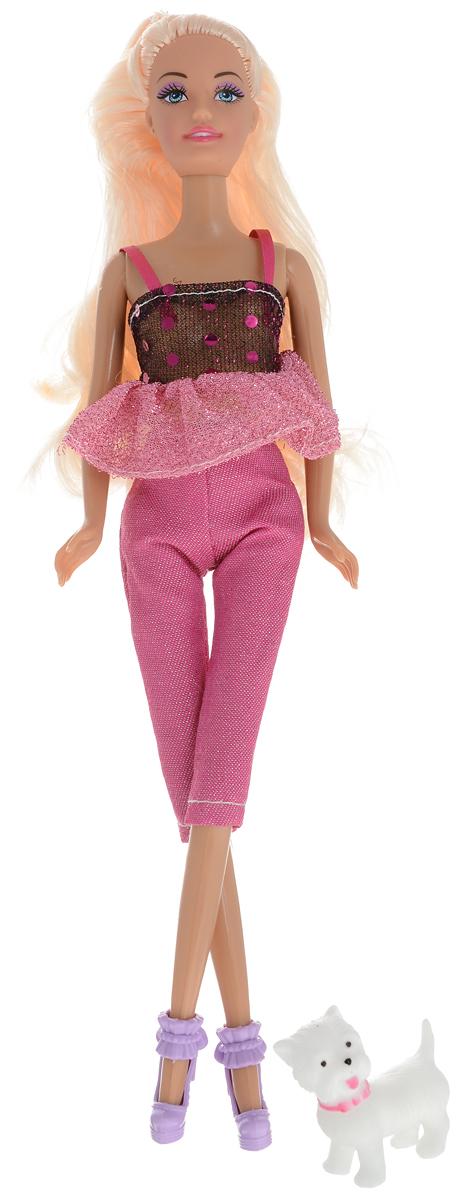 ToysLab Кукла Ася Прогулка со щенком Блондинка цвет одежды розовый