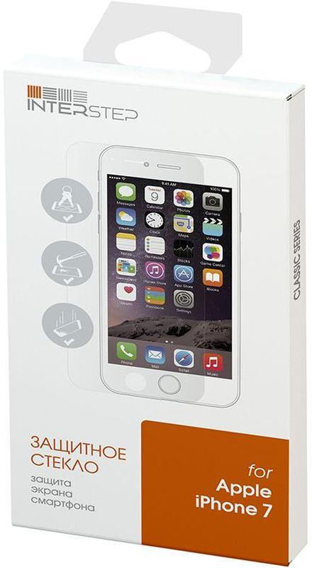 Interstep защитное стекло для iPhone 7/7S, GlossyIS-TG-IPHONE7CC-000B202Стандартное, прозрачное, глянцевое (на плоскую часть лицевой панели смартфона).материал закаленное стекло, толщина 0,33 мм. Если вы предпочитаете лучшую защиту для вашего устройства, ваш выбор за защитным стеклом Interstep.