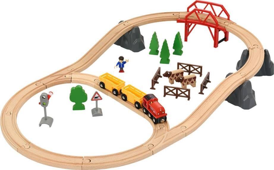 Brio Железная дорога Поездка по сельской местности с мостом - Железные дороги