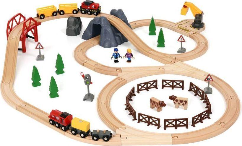 Brio Железная дорога Сельская местность и грузовой поезд погрузчик с вращением с магнитом блист brio