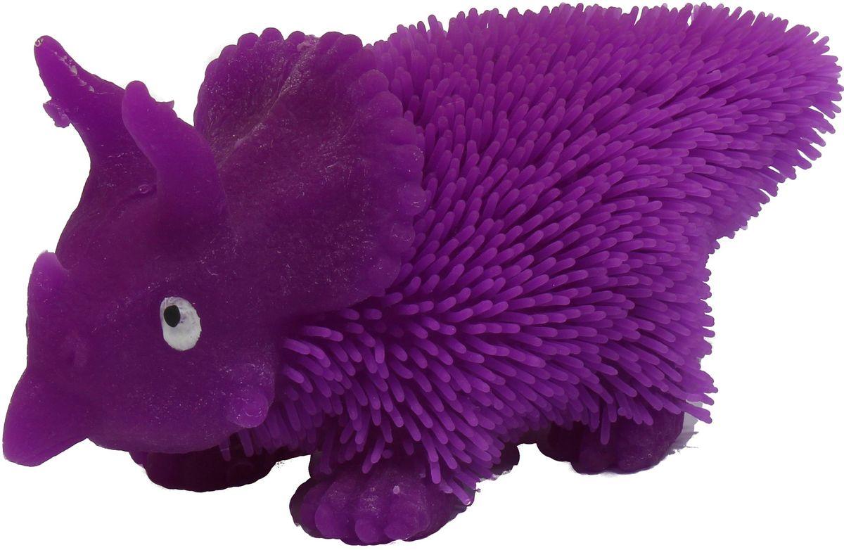 1TOY Антистрессовая игрушка Нью-Ёжики Динозавр цвет фиолетовый beleduc игрушка на руку динозавр т rex