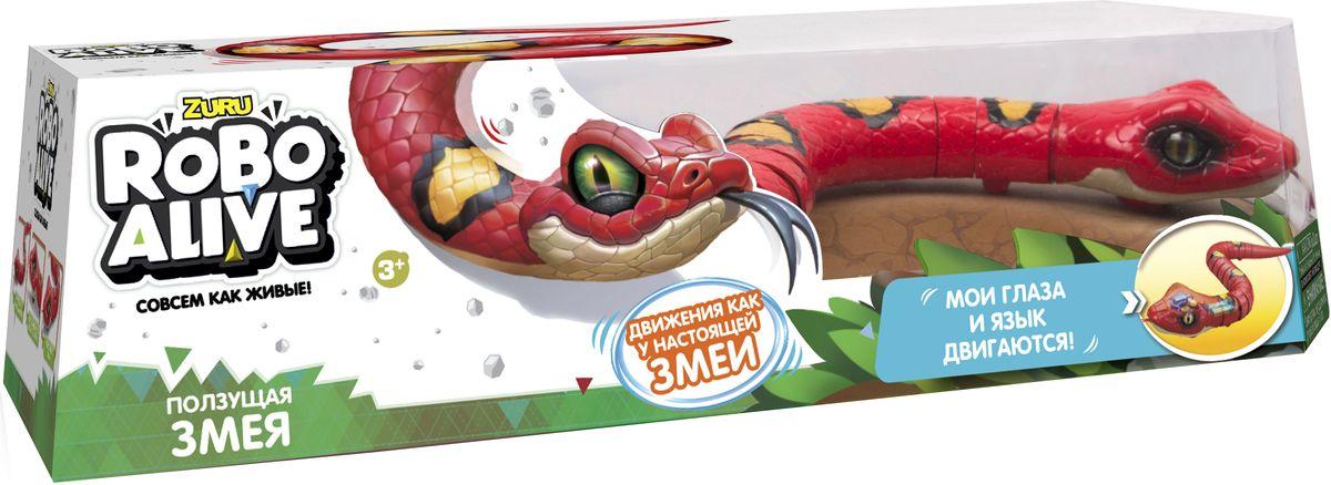 Zuru Интерактивная игрушка Робо-змея RoboAlive цвет красный грелки warmies cozy plush игрушка грелка змея