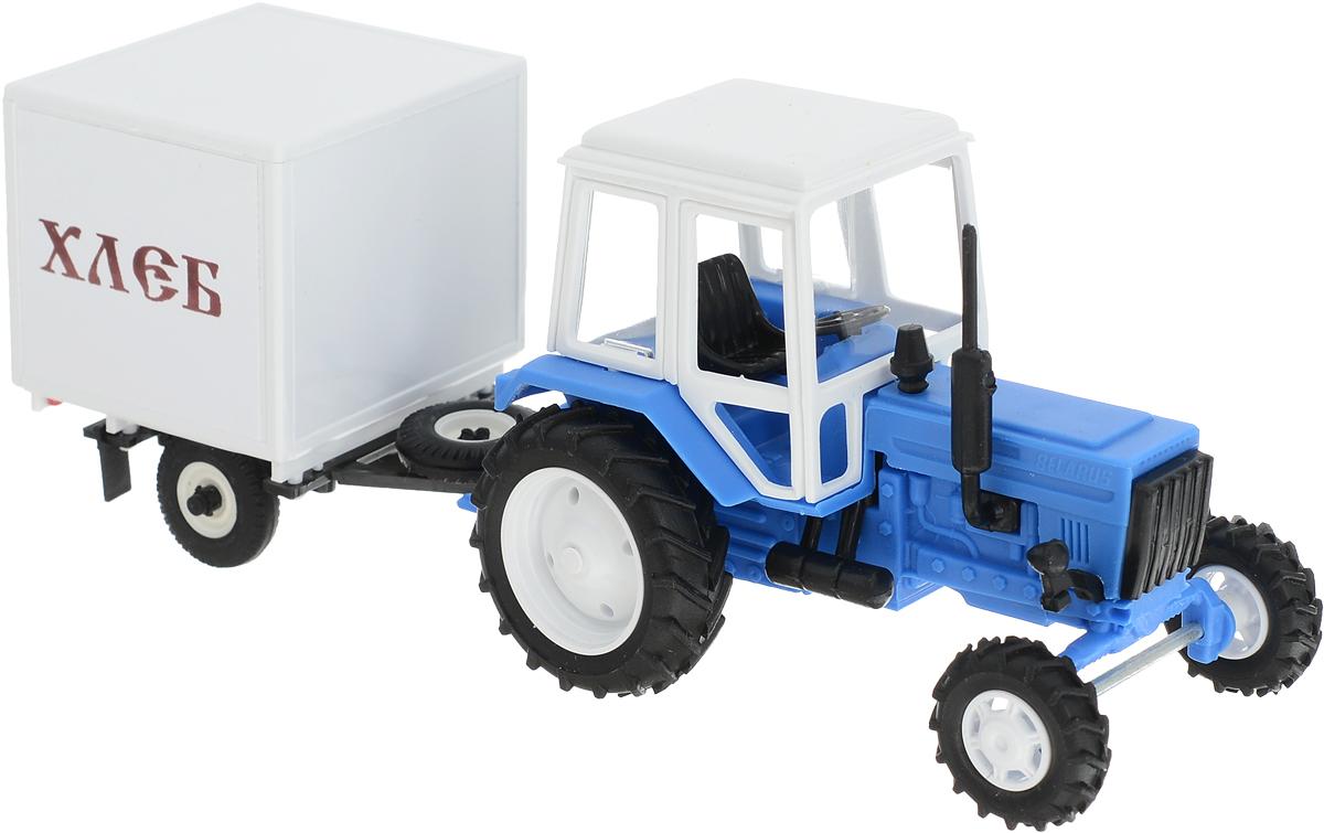 Мир отечественных моделей Трактор МТЗ-82 с прицепом Хлеб мир отечественных моделей трактор мтз 82 с прицепом