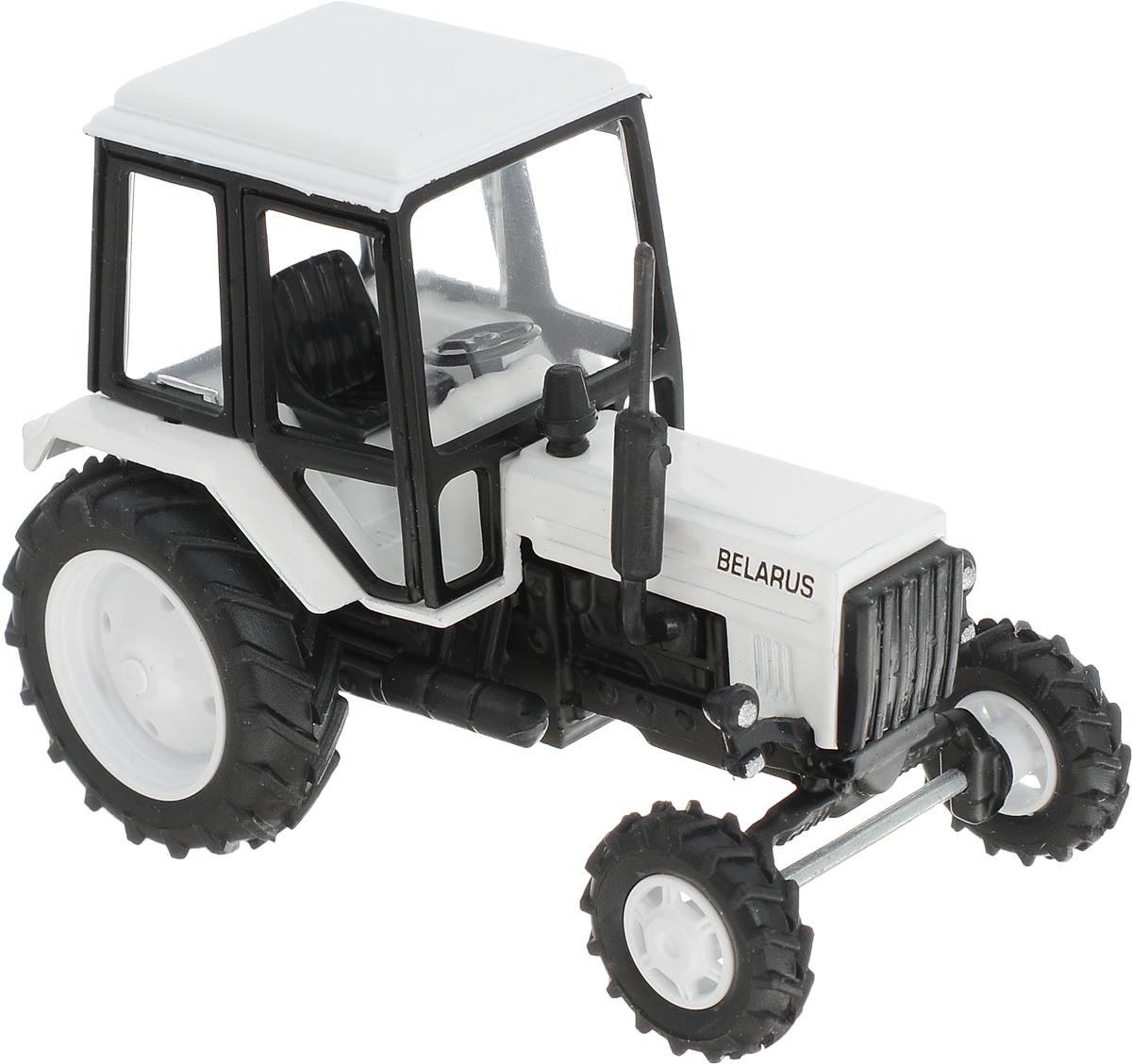 Мир отечественных моделей Трактор МТЗ-82 цвет белый мир отечественных моделей трактор мтз 82 с прицепом