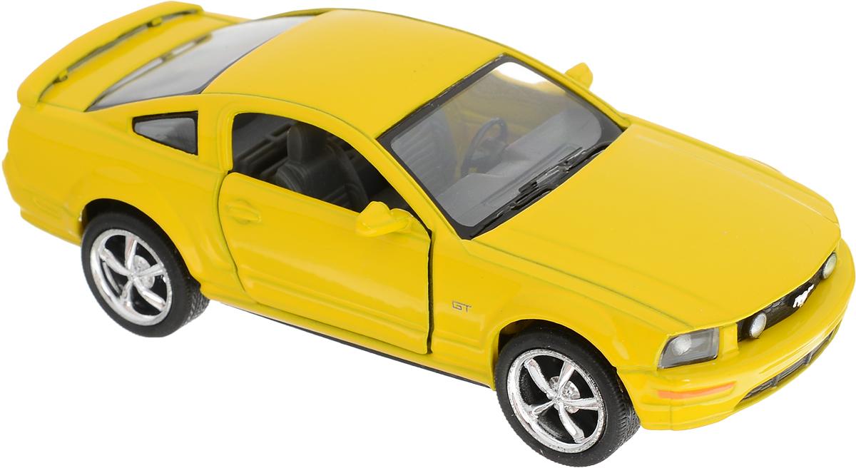 Kinsmart Модель автомобиля 2006 Ford Mustang GT цвет желтый подкрылки ford transit 2006 2014 задний левый