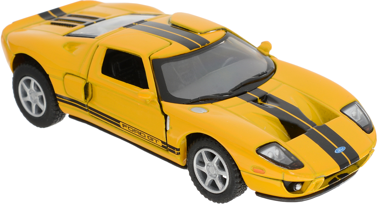 Kinsmart Модель автомобиля 2006 Ford GT цвет желтый подкрылки ford transit 2006 2014 задний левый