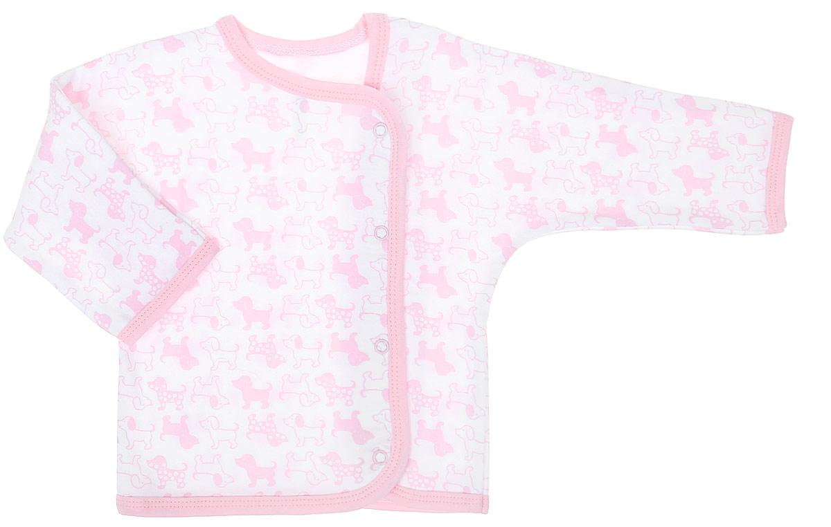 Распашонка для девочки Чудесные одежки, цвет: белый, розовый. 5183. Размер 865183Распашонка Чудесные одежки послужит идеальным дополнением к гардеробу вашего крохи. Модель с запахом изготовлена из натурального хлопка, благодаря чему она очень мягкая и легкая. Распашонка с круглым вырезом горловины и длинными цельнокроеными рукавами застегивается на кнопки, что помогает при переодевании малыша. Вырез горловины, планка и низ изделия обработаны бейкой из отделочного полотна. Модель полностью соответствует особенностям жизни младенца в ранний период, не стесняя и не ограничивая его в движениях.