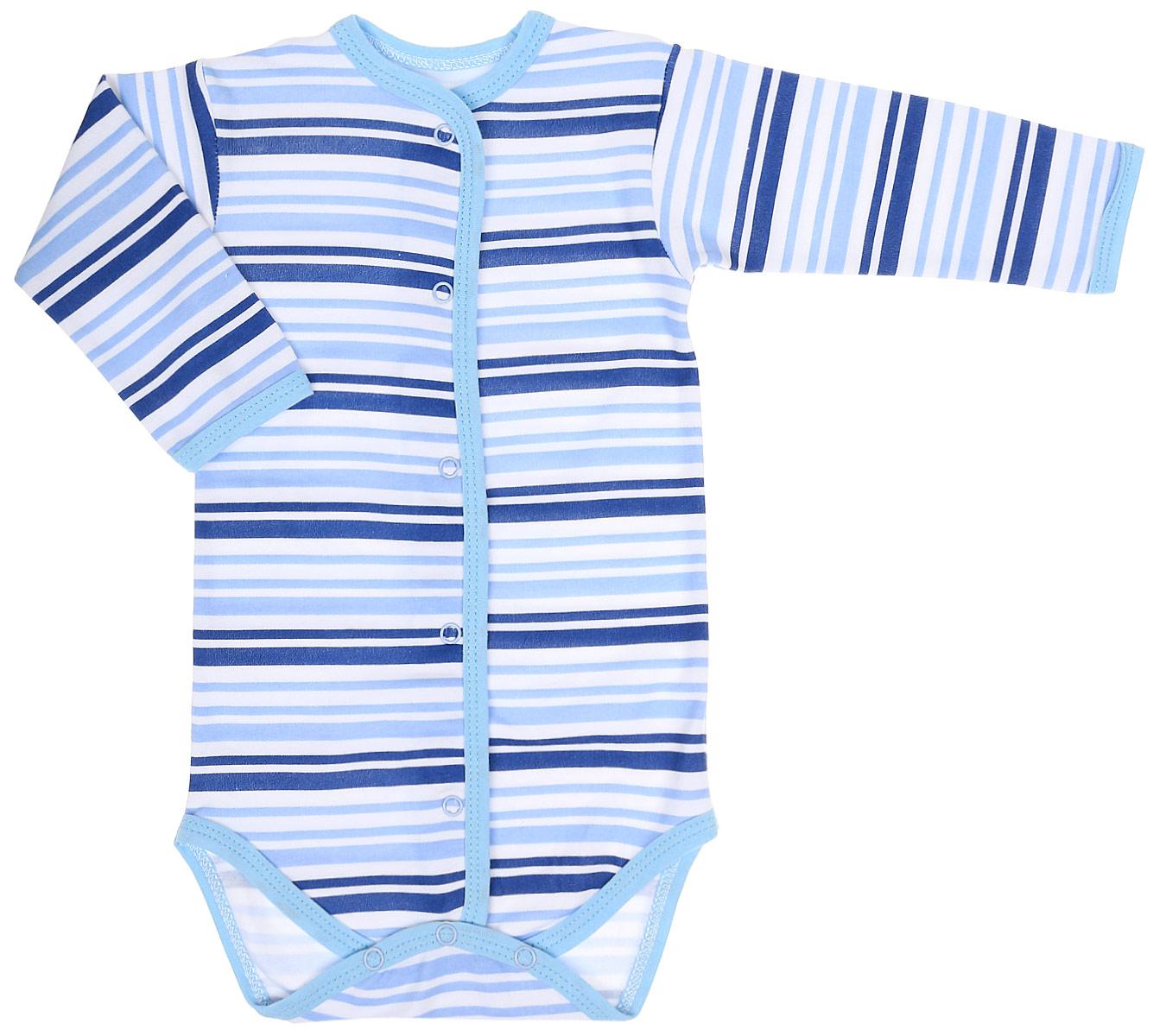 Боди для мальчика Чудесные одежки, цвет: белый, синий. 5898. Размер 745898Детское боди Чудесные одежки идеально подойдет вашему ребенку, обеспечивая ему наибольший комфорт. Боди с длинными рукавами изготовлено из натурального хлопка, благодаря чему оно необычайно мягкое и легкое, не раздражает нежную кожу ребенка и хорошо вентилируется. Боди не сковывает движения малыша, а удобные застежки-кнопки по всей длине и на ластовице помогают легко переодеть ребенка. Современный дизайн и яркая расцветка делают боди оригинальным и стильным предметом детского гардероба. В нем ваш ребенок всегда будет в центре внимания.