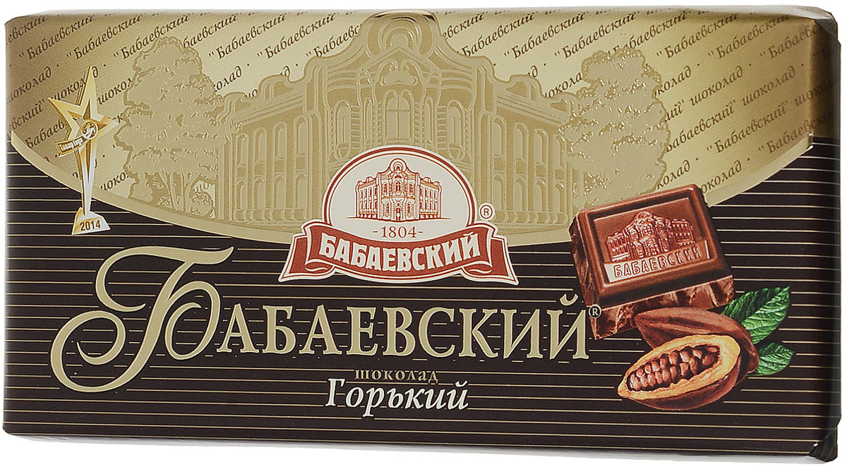 Бабаевский горький шоколад, 100 г волшебница золотой орех шоколад темный с миндалем 190 г