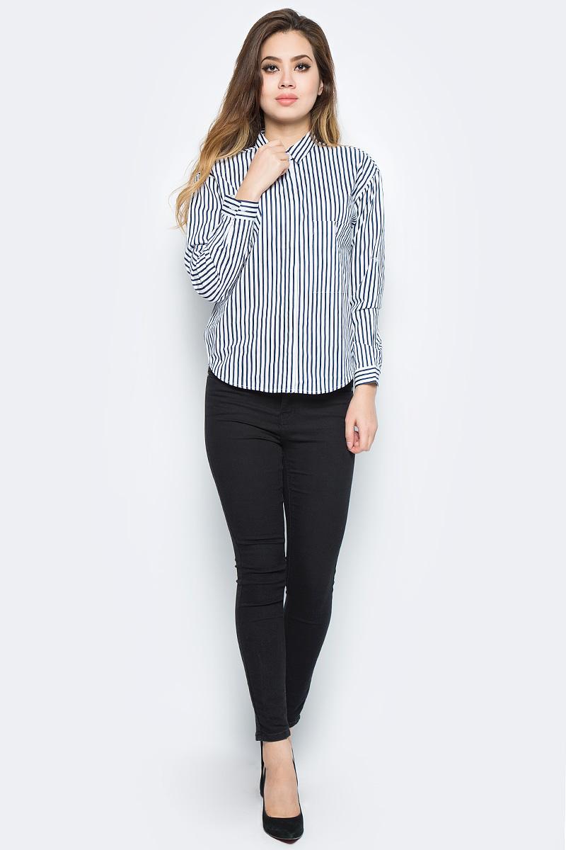 Рубашка женская Bello Belicci, цвет: белый. SA8_12. Размер L (46)SA8_12Рубашка женская Bello Belicci выполнена из натурального хлопка. Модель с отложным воротником и длинными рукавами застегивается на пуговицы.
