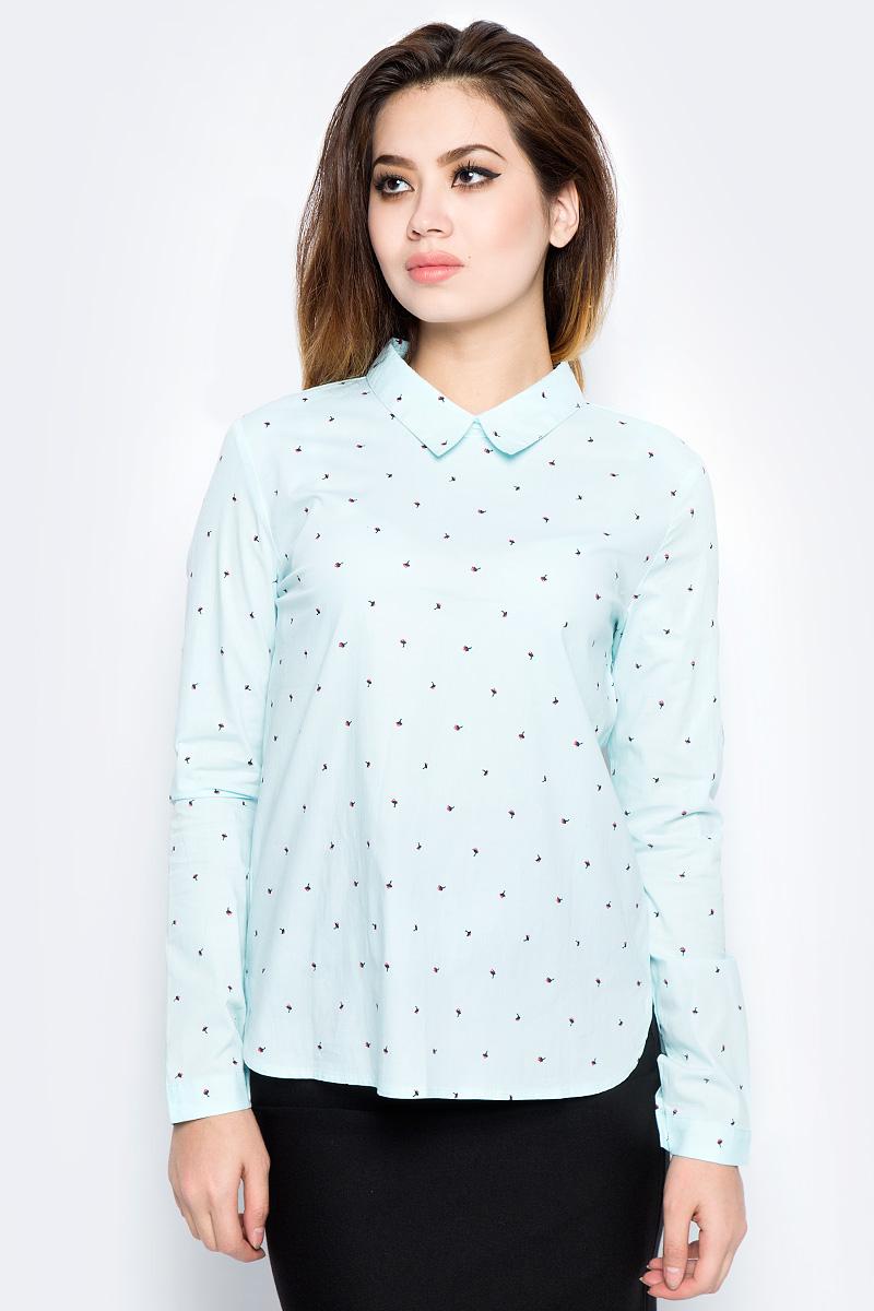 Рубашка женская Bello Belicci, цвет: бирюзовый. SA9_3. Размер XXL (50) рубашка женская bello belicci цвет белый sa9 12 размер xxl 50