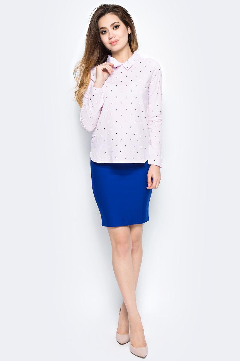 Рубашка женская Bello Belicci, цвет: розовый. SA9_6. Размер S (42)SA9_6Рубашка женская Bello Belicci выполнена из качественного материала. Модель с длинными рукавами и отложным воротником.