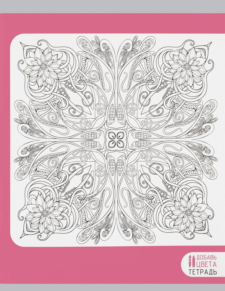 Канц-Эксмо Тетрадь Восхитительные узоры 96 листов в клеткуТ965553_розовыйТетрадь для конспектов Канц-Эксмо Восхитительные узоры формат А5, 96 листов в клетку. Крепление - скрепка. Обложка: мелованный картон, матовый ВД-лак, раскраска. Внутренний блок: бумага офсетная 60 г/м2.