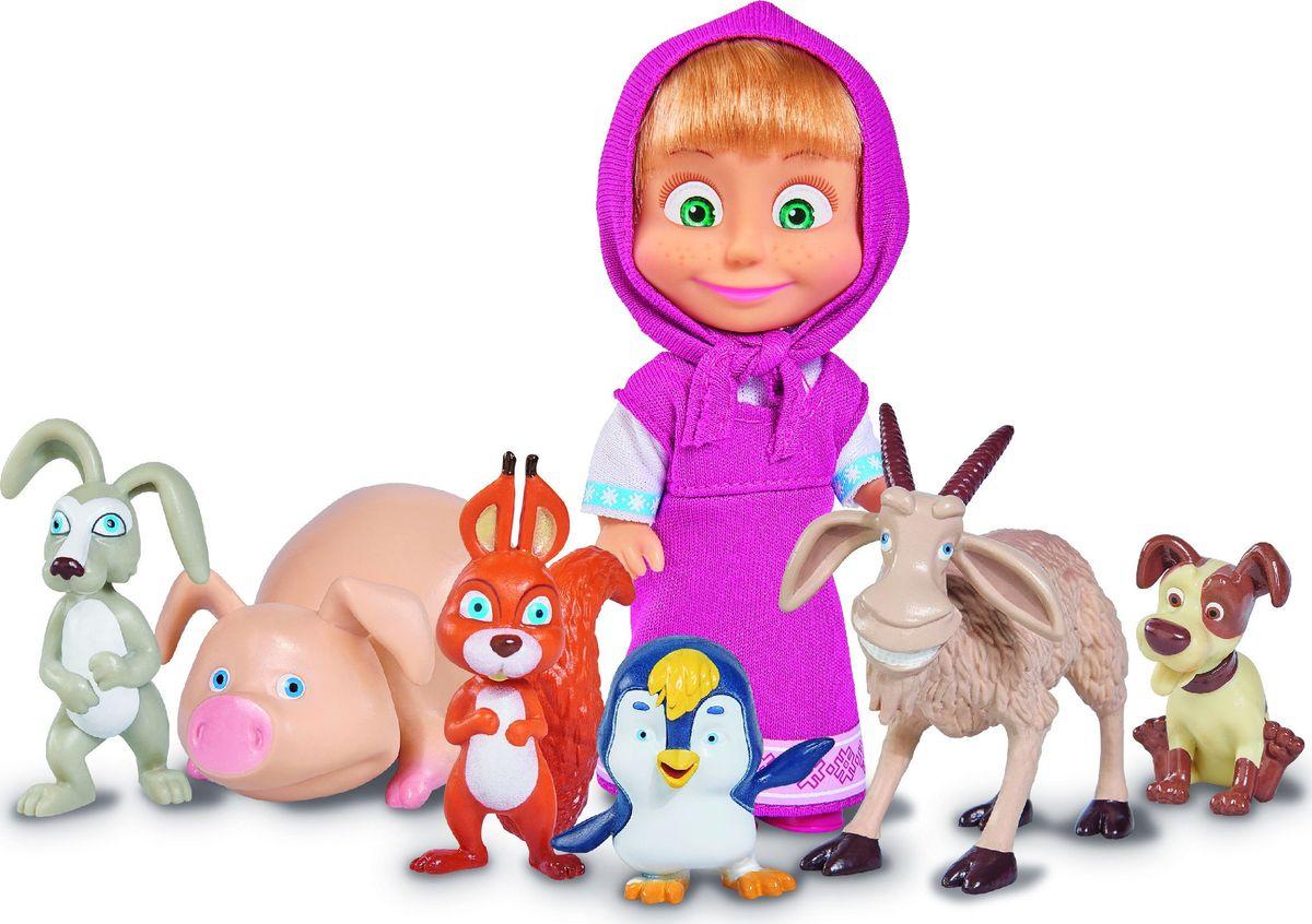 Simba Игровой набор с куклой Маша с друзьями-животными simba игровой набор маша художница