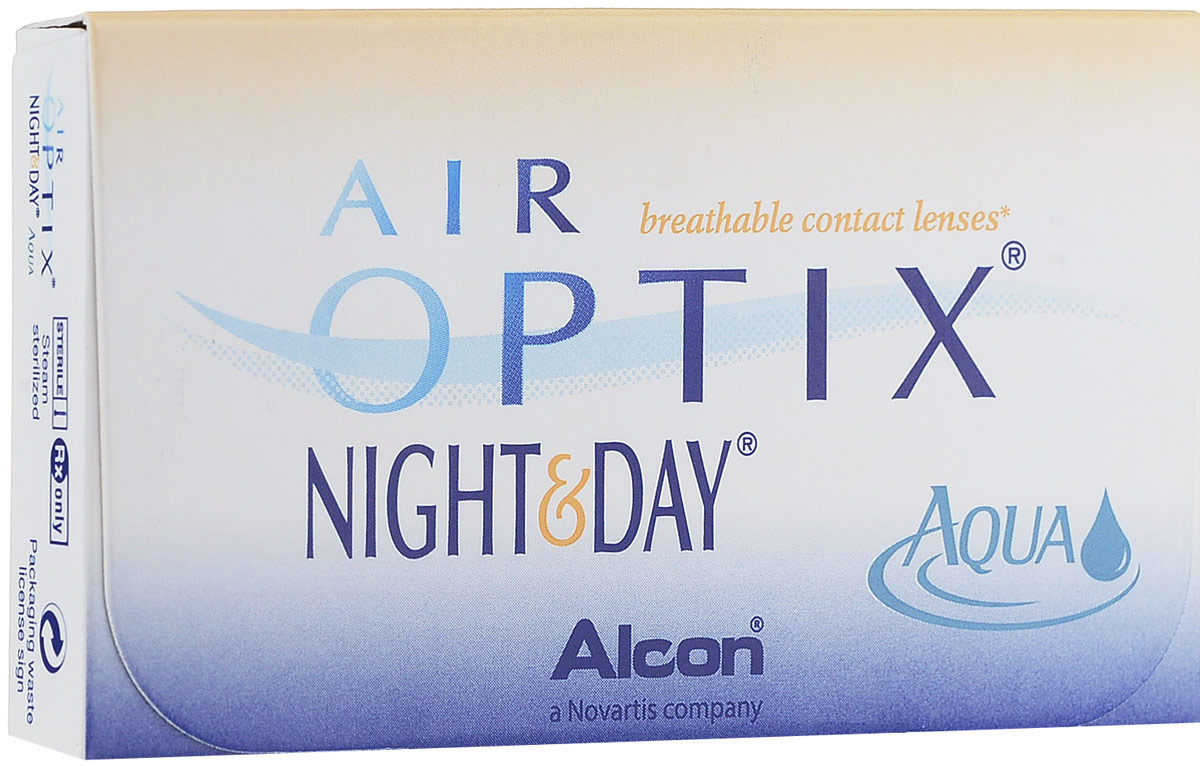 Alcon-CIBA Vision контактные линзы Air Optix Night & Day Aqua (3шт / 8.4 / -3.75)