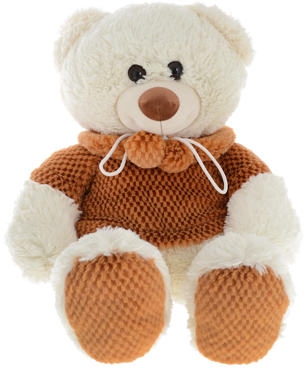 СмолТойс Мягкая игрушка Мишка в кофточке цвет молочный 65 см - Мягкие игрушки