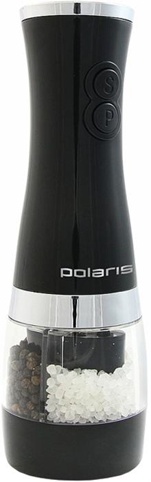 Электрическая перечница Polaris-PEP 2402PSPEP 2402PSЭлектрическая перечница Polaris моментально измельчит перец горошек, стручки ванили, корицу, мускатный орех и другие пряности. Благодаря наличию двух раздельных контейнеров может осуществлять помол различных специй одновременно. Более того, вы сможете перемолоть специи мелко и крупно, благодаря функции грубого и тонкого помола.Дизайн этой электроперечницы не позволяет выскользнуть ей из рук во время работы.Работает от шести батареек типа АА.Два контейнера для специй;Две степени помола (грубый помол, тонкий помол);Дизайн корпуса не позволит выскальзыванию. Характеристики:Материал: стекло, пластик, металл. Тип питания: 6x1,5V АА battery (не входят в комплект). Размер электроперечницы: 7 см х 7 см х 21 см. Размер упаковки: 7 см x 7,5 см x 22 см.