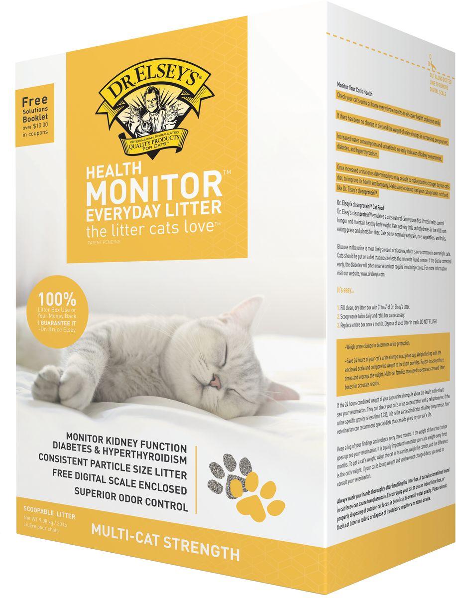 Наполнитель Dr.Elsey's  Health Monitor , комкующийся, контроль здоровья, 9,08 кг - Наполнители и туалетные принадлежности