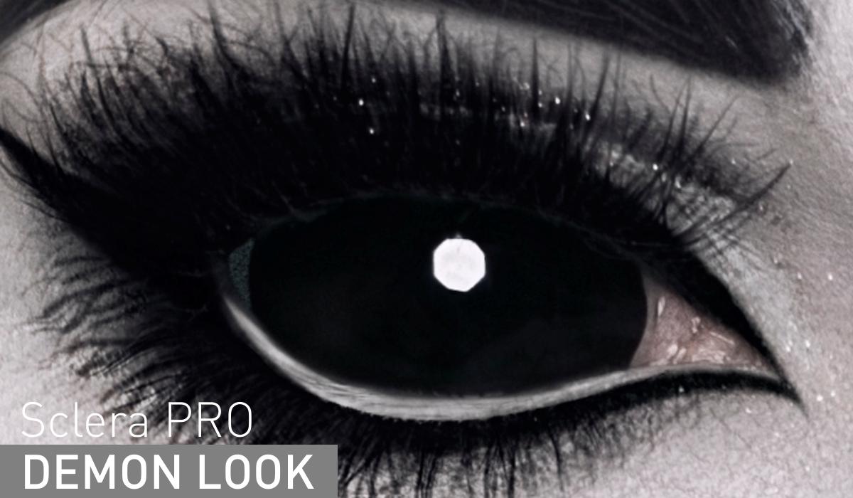 Adria Контактные линзы Sclera Pro / 1 шт / 0.0 / 8.6 / 22.0 / Demon Look
