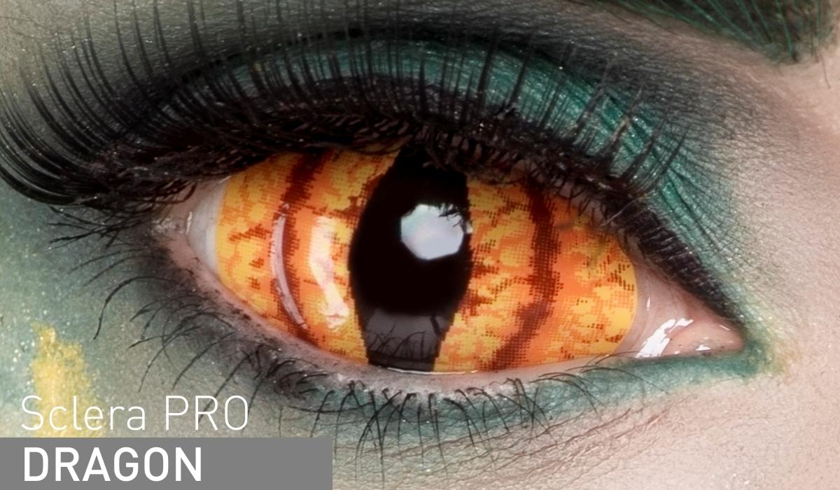 Adria Контактные линзы Sclera Pro / 1 шт / 0.0 / 8.6 / 22.0 / Dragon