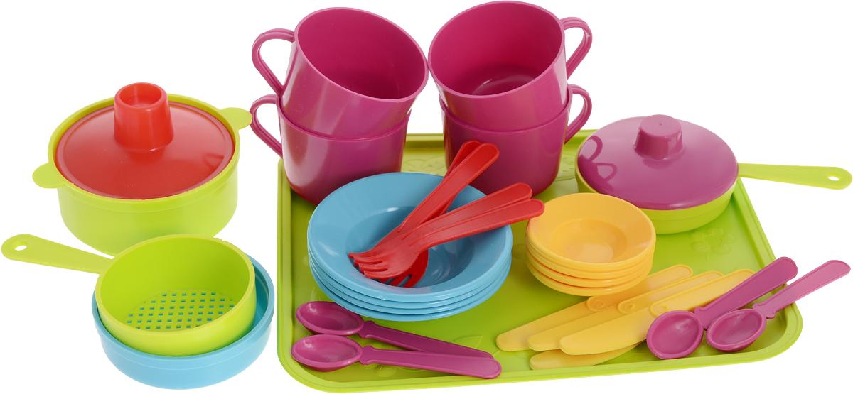 РосИгрушка Набор игрушечной посуды Сели поели ролевые игры росигрушка набор посуды столовый рыбный день 9 деталей
