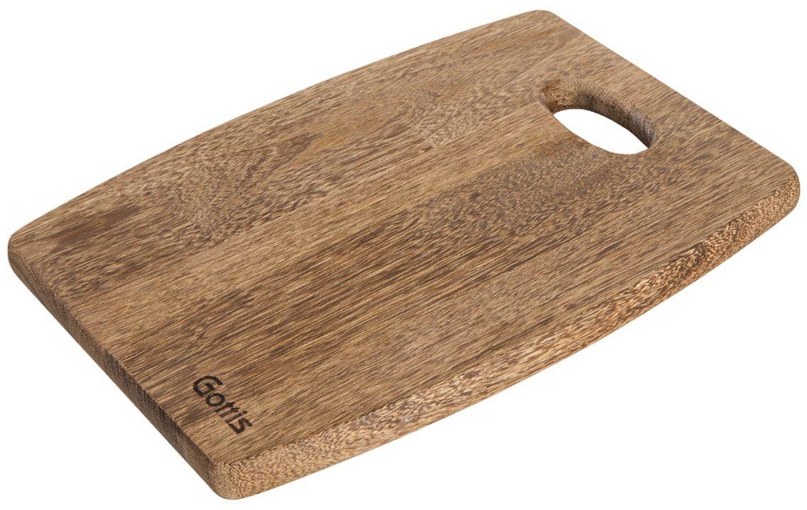 Доска разделочная Gottis. 7167616/3416/34 Разделочные доски Gottis, изготовленные из массива ценного дерева панга-панга, созданы для истинных ценителей кулинарного искусства. Современный дизайн, уникальная текстура, долговечность и экологичность сделают их незаменимыми помощниками на кухне и позволят надолго сохранить остроту ваших ножей. Если вы готовите часто и с удовольствием, разделочные доски Gottis предназначены именно для вас! Используя разделочные доски Gottis, вы можете готовить как настоящий шеф-повар.
